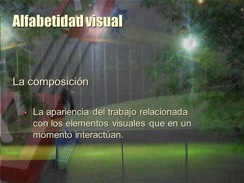 Alfabetidad visual La composición