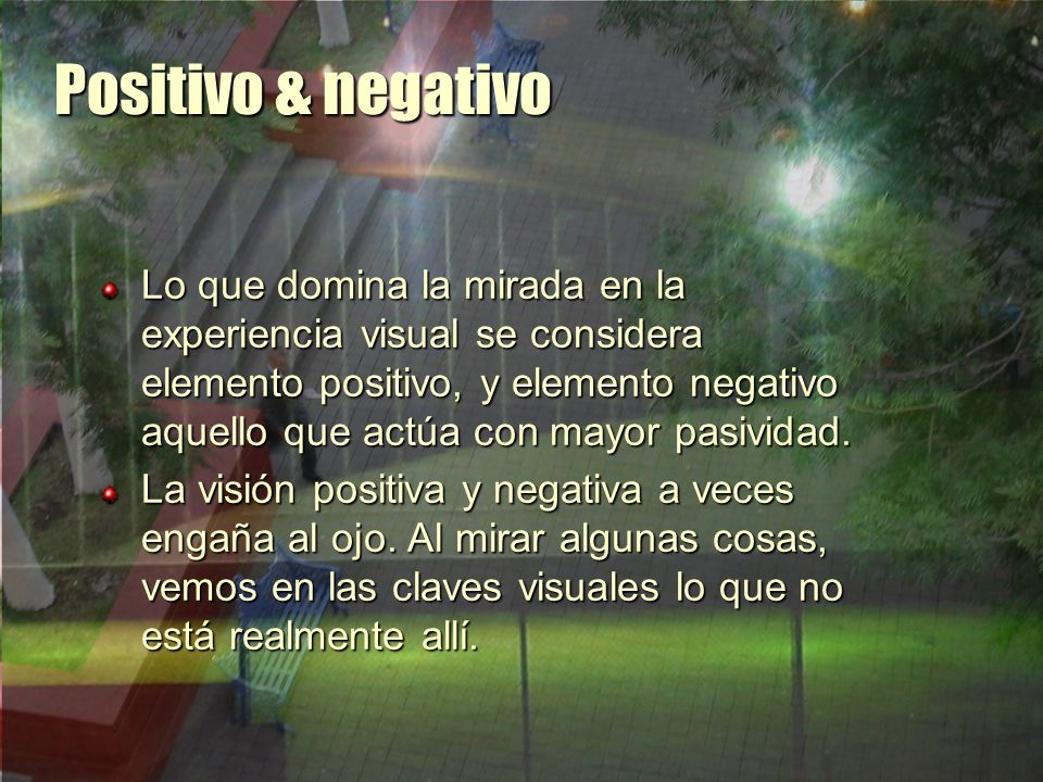 Positivo & negativo