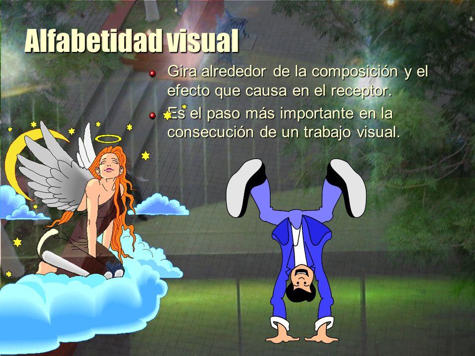 Alfabetidad visual Gira alrededor de la composición y el efecto que causa en el receptor.