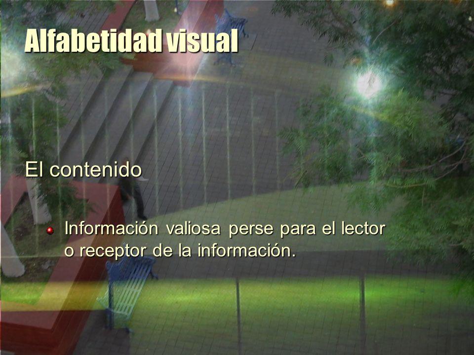 Alfabetidad visual El contenido