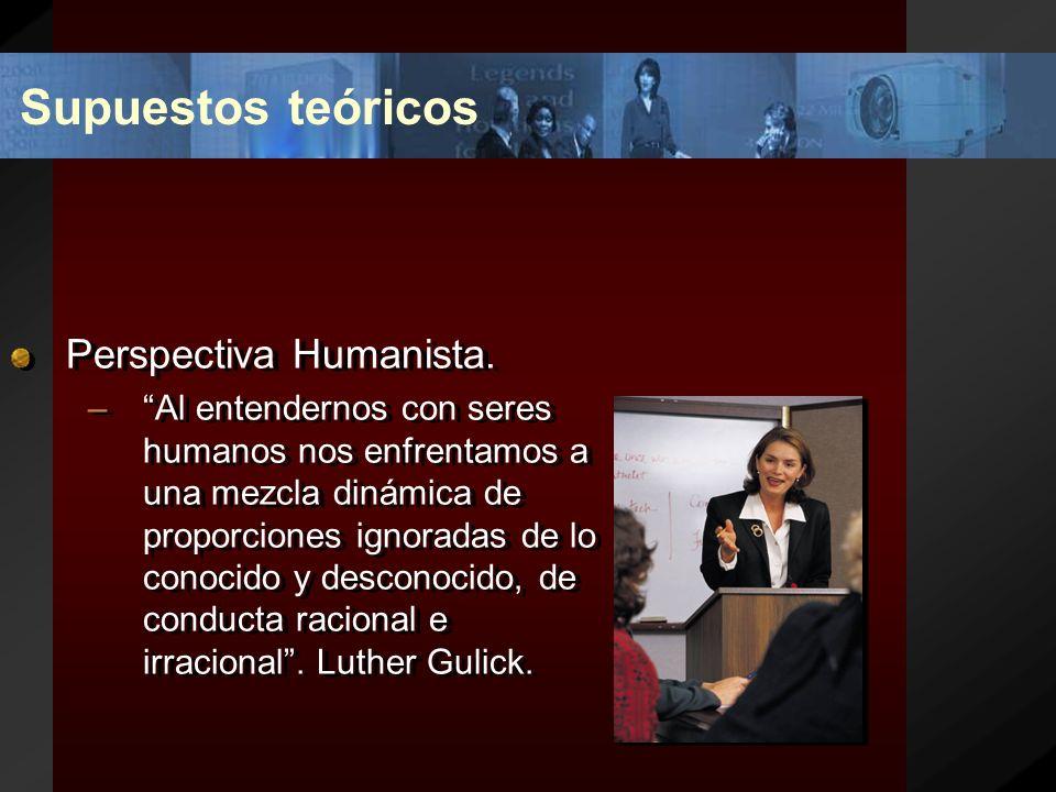 Supuestos teóricos Perspectiva Humanista.