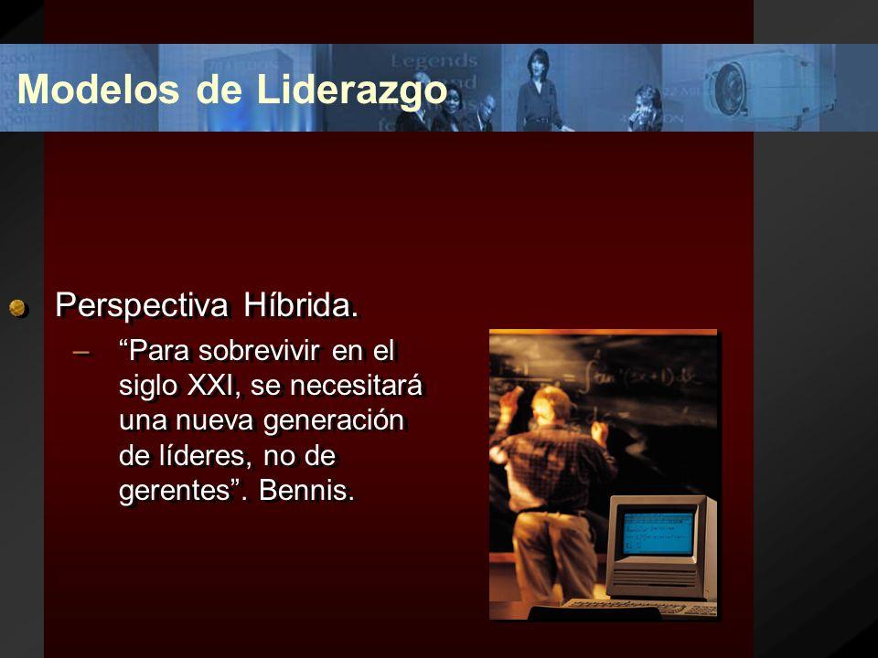 Modelos de Liderazgo Perspectiva Híbrida.