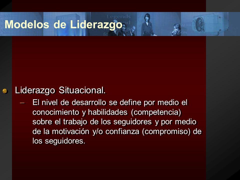 Modelos de Liderazgo Liderazgo Situacional.