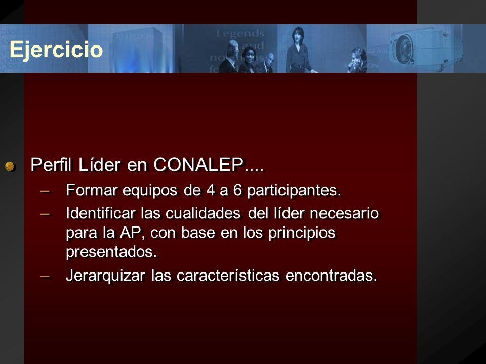 Ejercicio Perfil Líder en CONALEP....