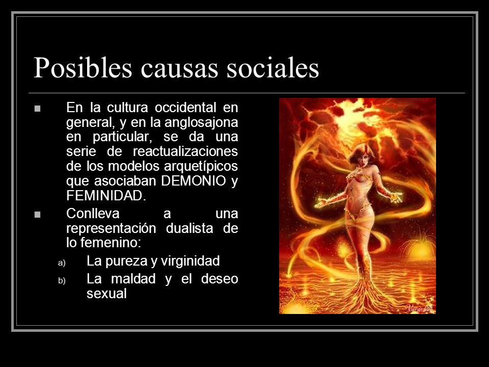Posibles causas sociales