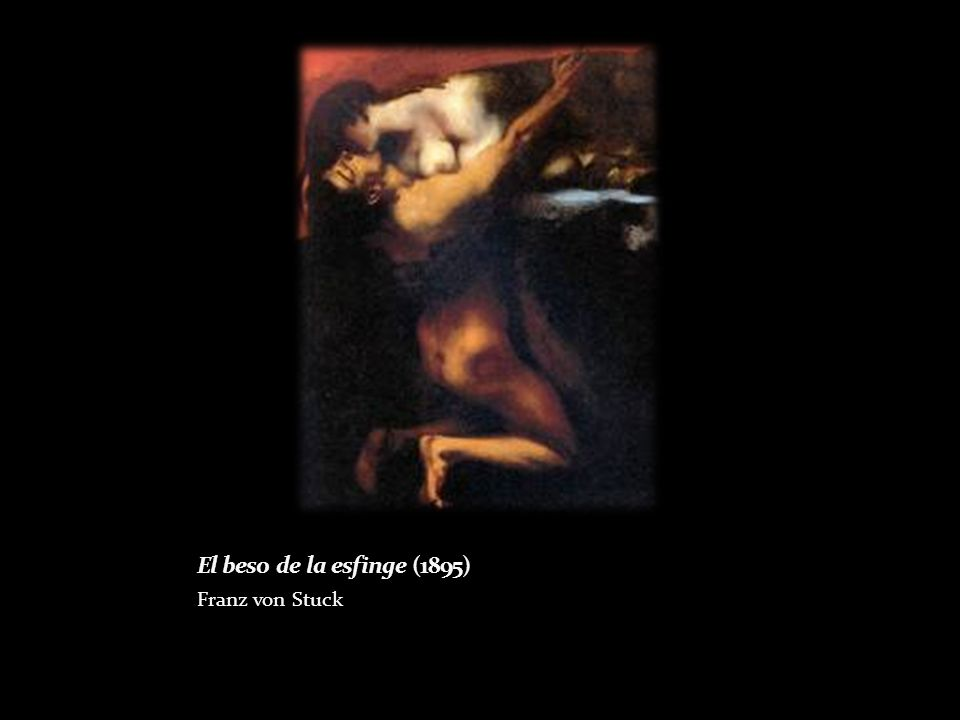 El beso de la esfinge (1895) Franz von Stuck