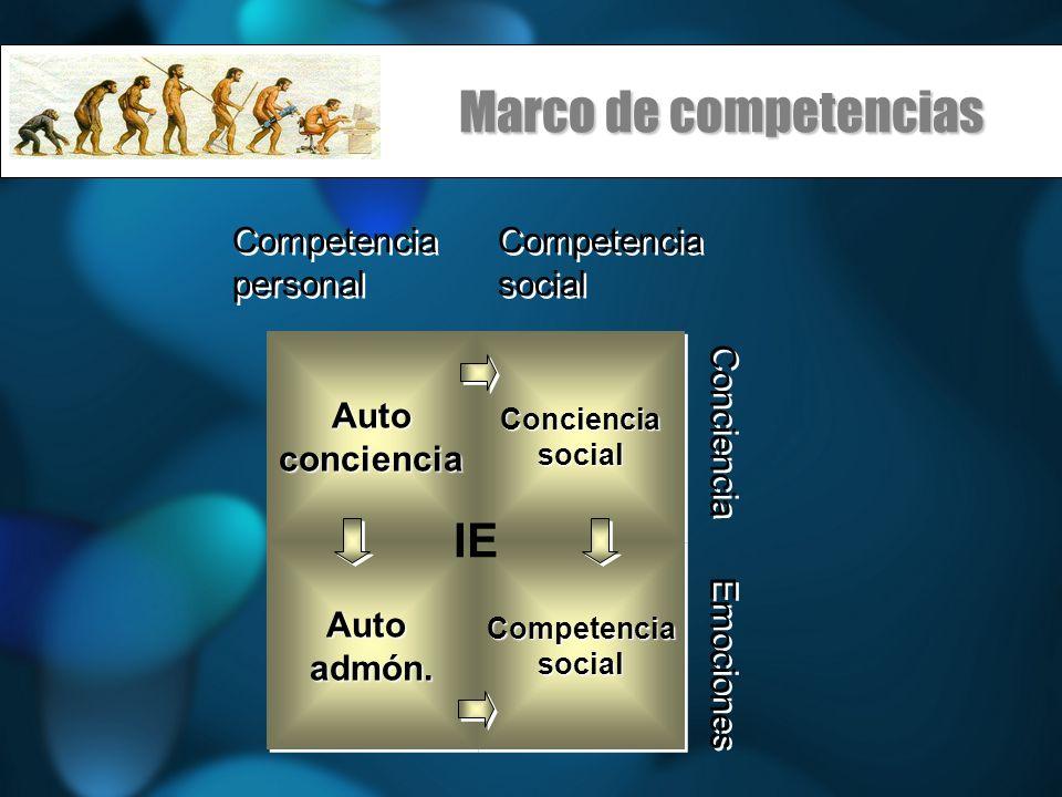 Marco de competencias IE Competencia personal Competencia social Auto