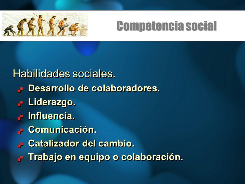 Competencia social Habilidades sociales. Desarrollo de colaboradores.