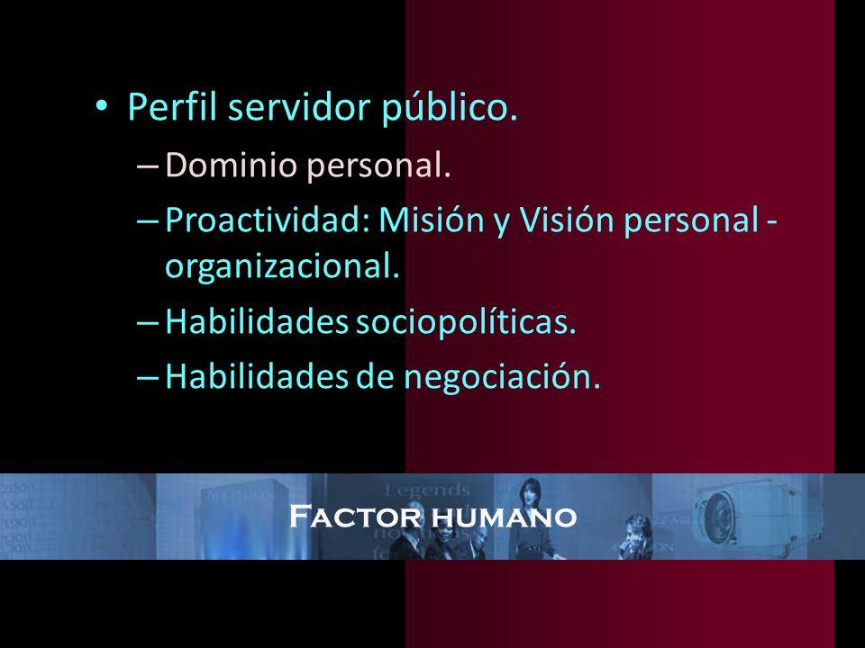 Perfil servidor público.