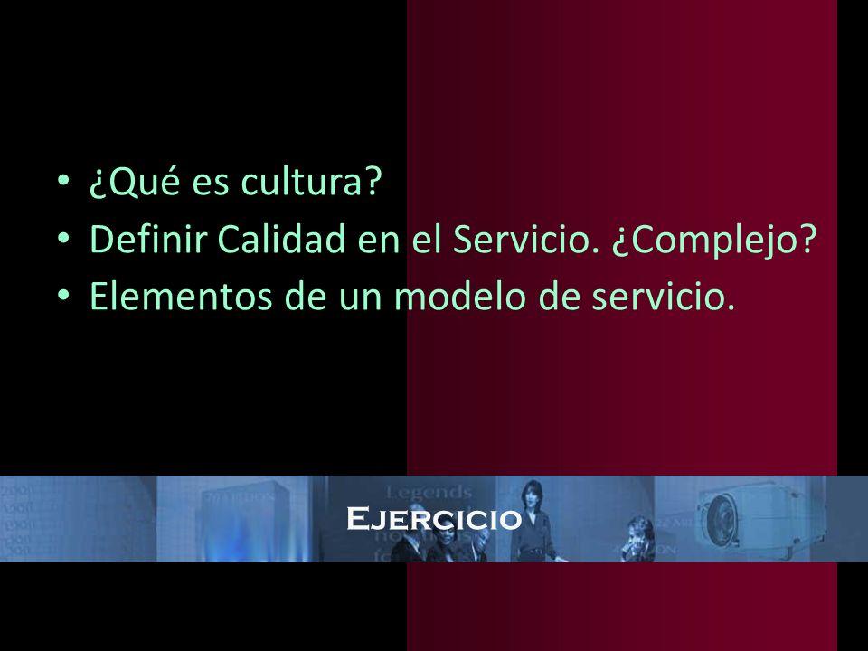 Definir Calidad en el Servicio. ¿Complejo