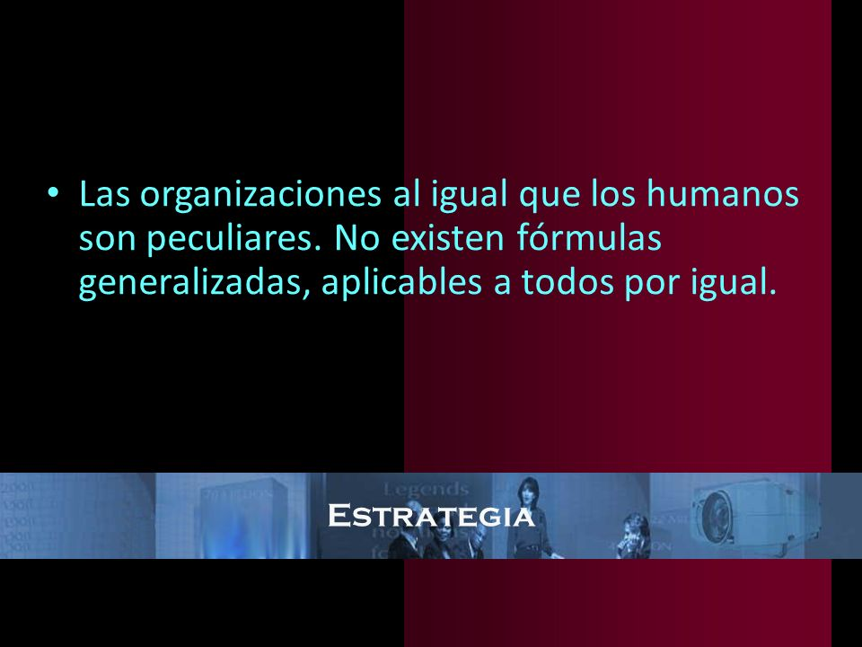 Las organizaciones al igual que los humanos son peculiares