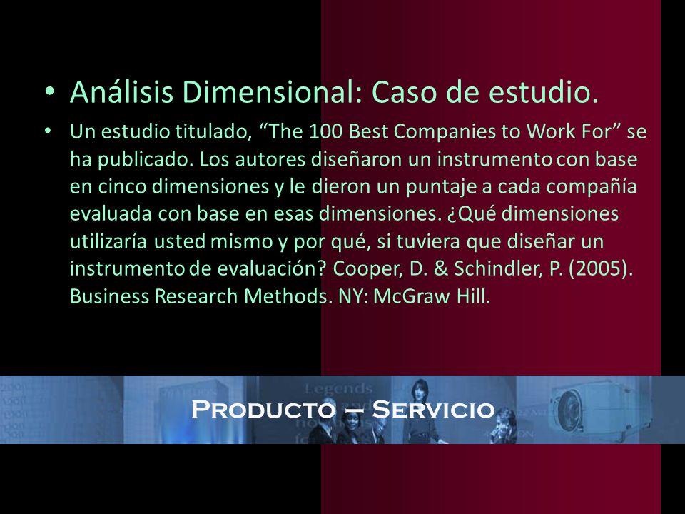 Análisis Dimensional: Caso de estudio.