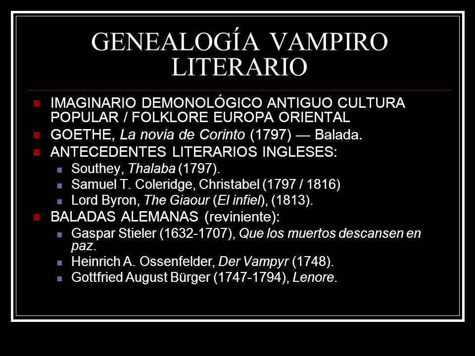 GENEALOGÍA VAMPIRO LITERARIO