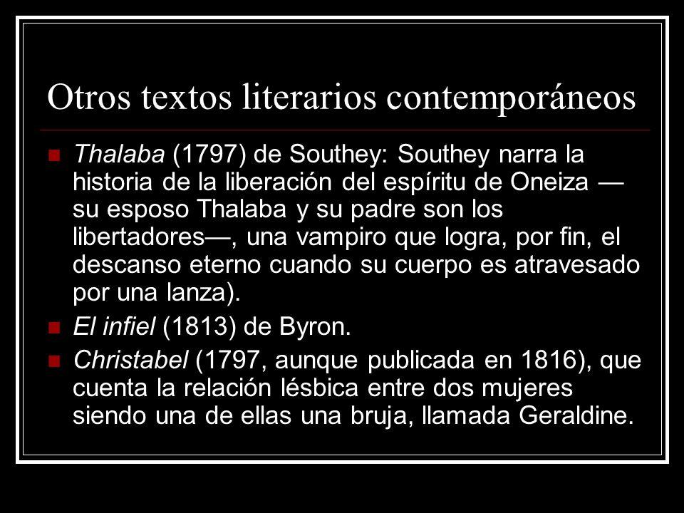 Otros textos literarios contemporáneos