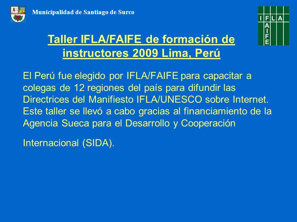 Taller IFLA/FAIFE de formación de instructores 2009 Lima, Perú