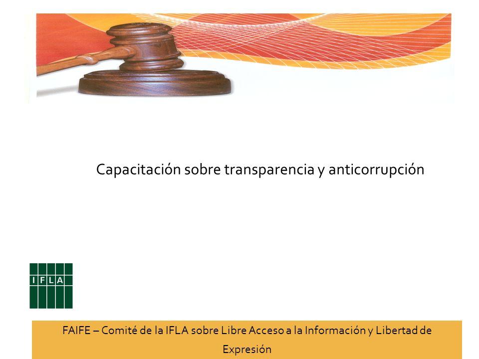 Capacitación sobre transparencia y anticorrupción