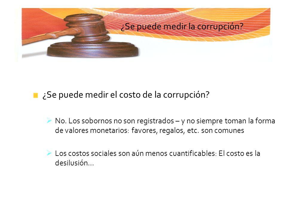¿Se puede medir la corrupción