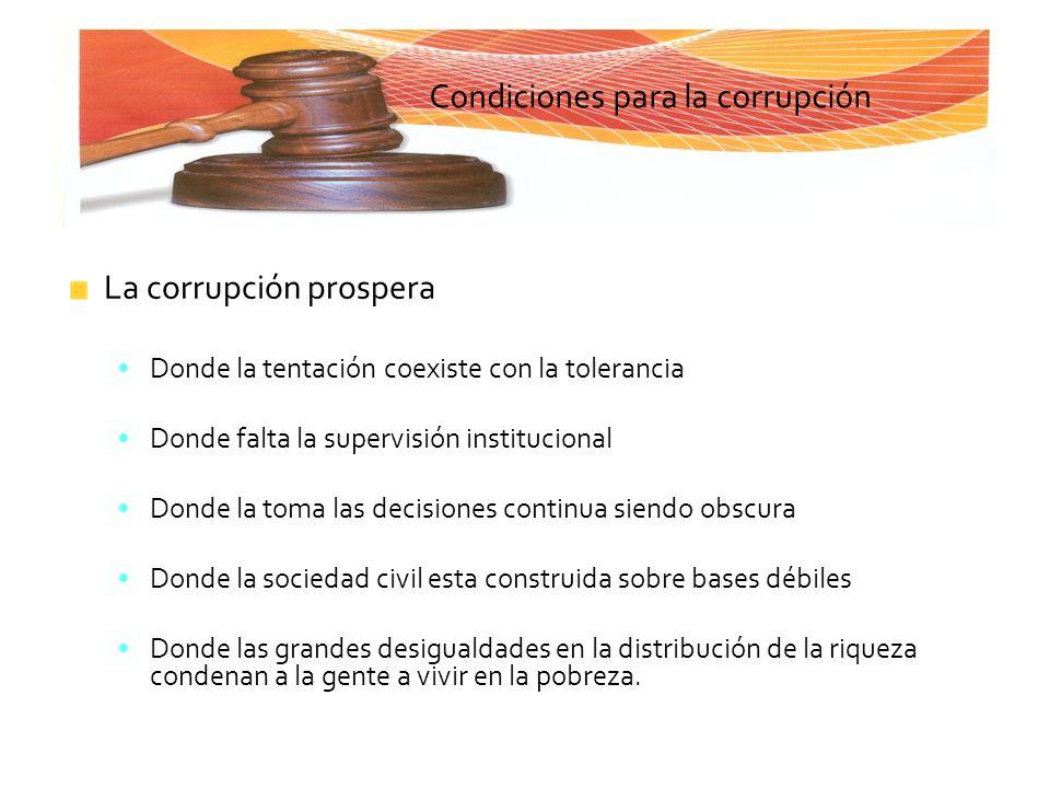 Condiciones para la corrupción