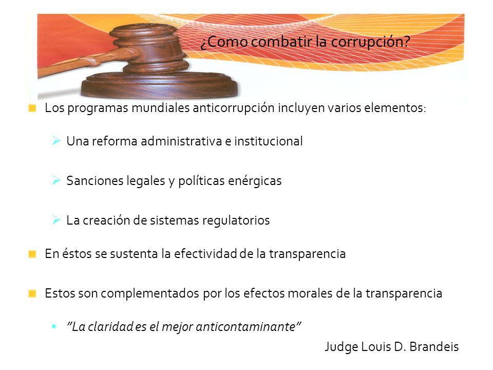 ¿Como combatir la corrupción