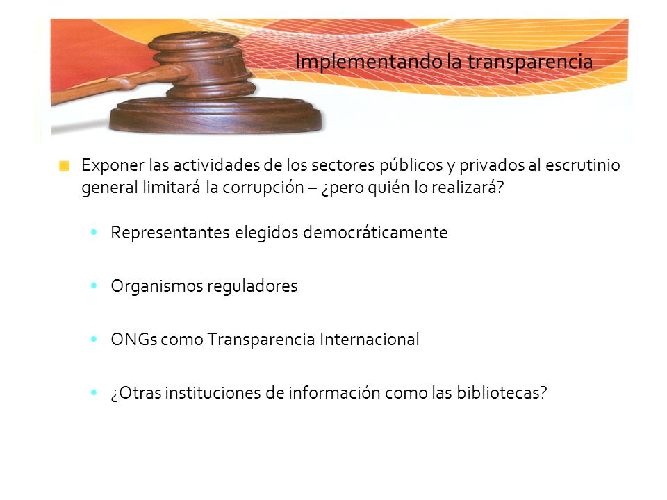 Implementando la transparencia