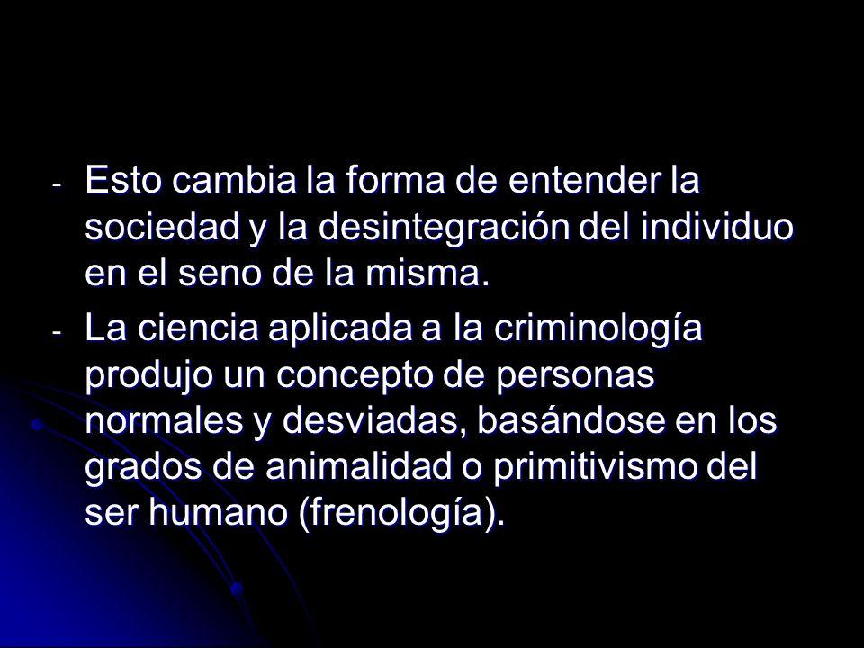 Esto cambia la forma de entender la sociedad y la desintegración del individuo en el seno de la misma.