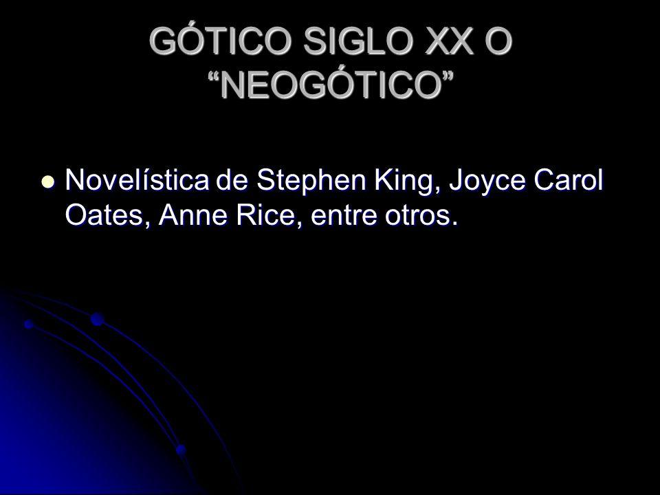 GÓTICO SIGLO XX O NEOGÓTICO