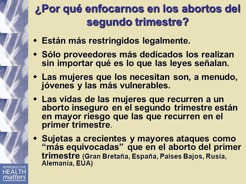 ¿Por qué enfocarnos en los abortos del segundo trimestre