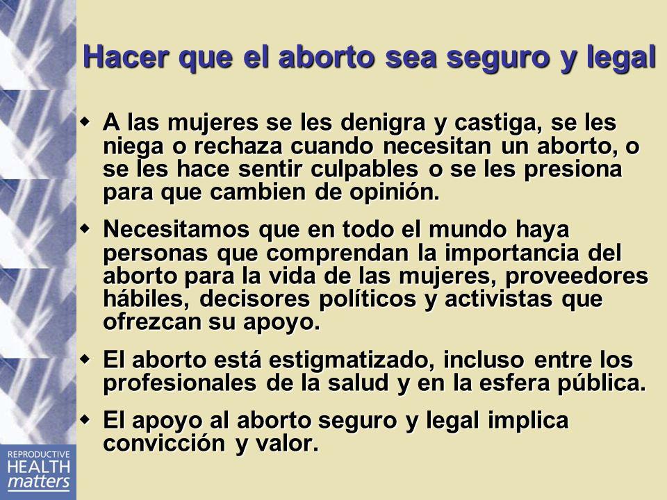 Hacer que el aborto sea seguro y legal