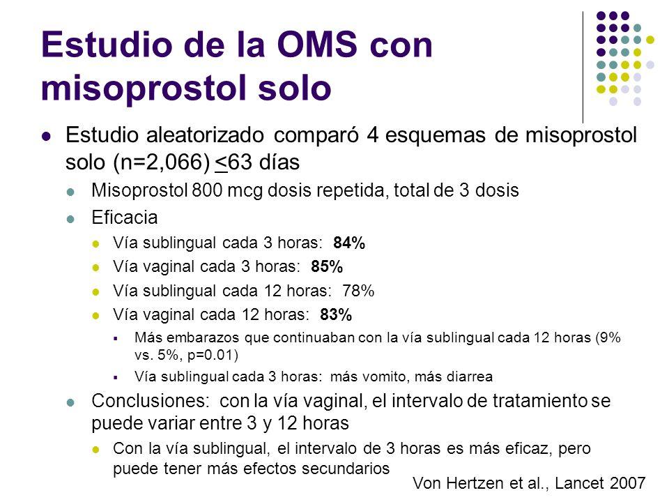 Estudio de la OMS con misoprostol solo