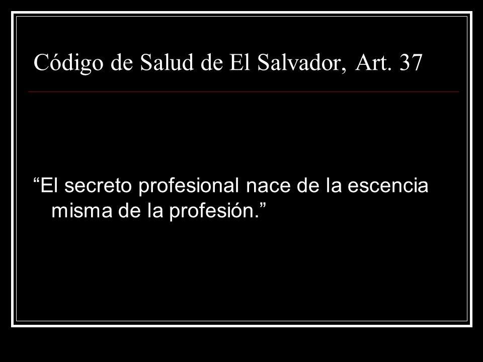 Código de Salud de El Salvador, Art. 37