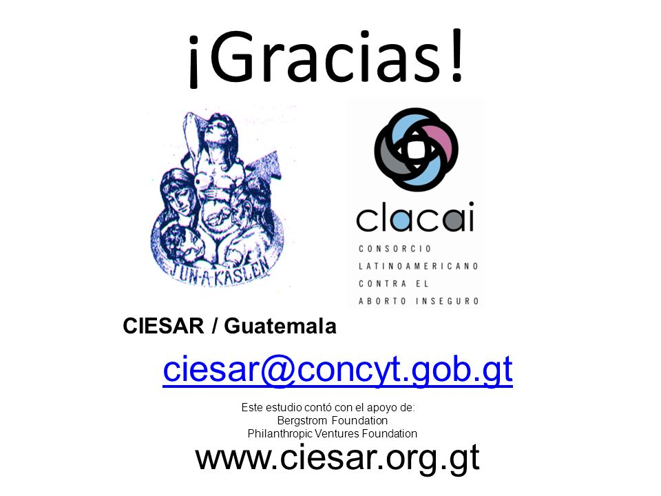 ¡Gracias! ciesar@concyt.gob.gt www.ciesar.org.gt CIESAR / Guatemala