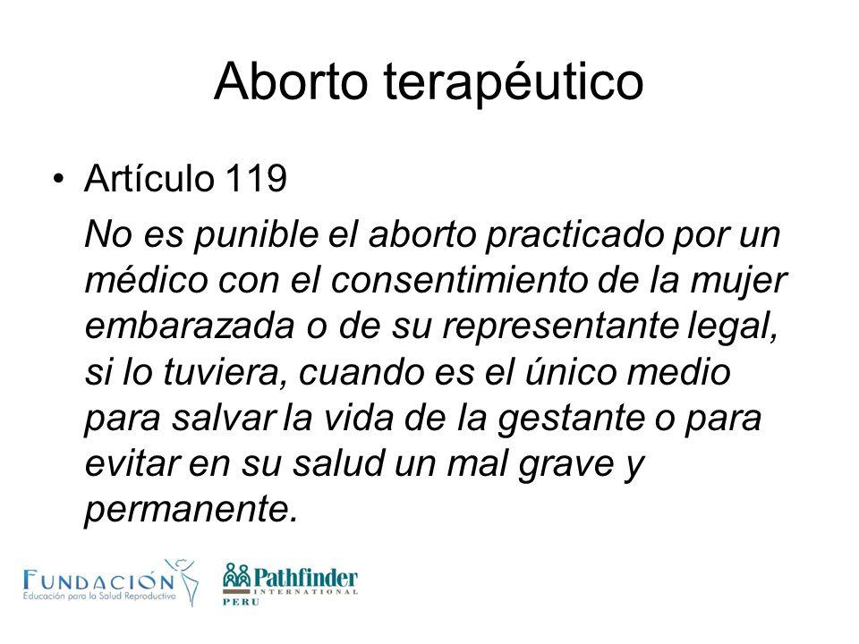 Aborto terapéutico Artículo 119