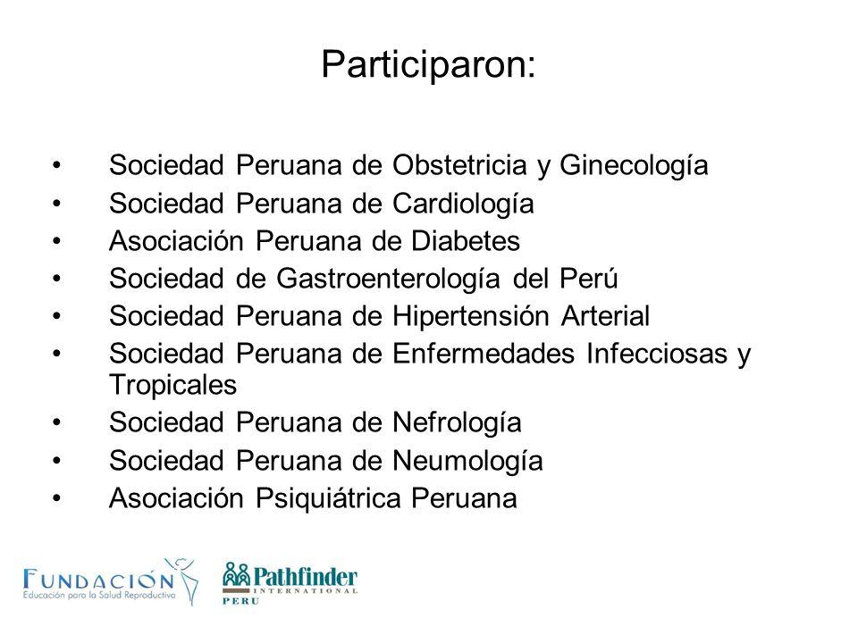 Participaron: Sociedad Peruana de Obstetricia y Ginecología