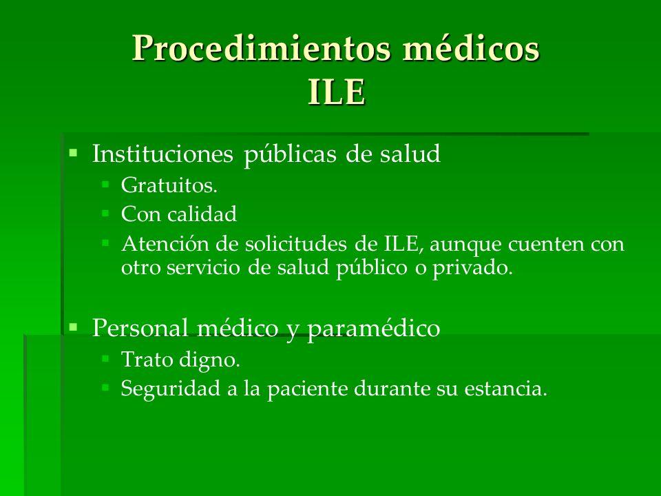 Procedimientos médicos ILE