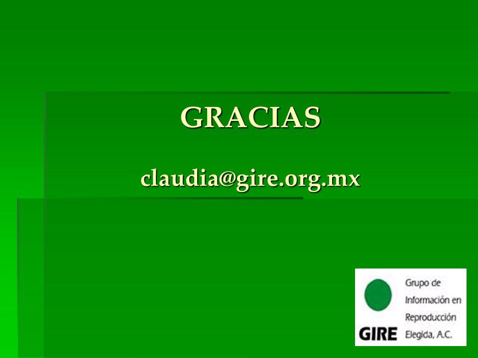 GRACIAS claudia@gire.org.mx