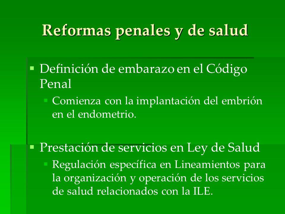 Reformas penales y de salud