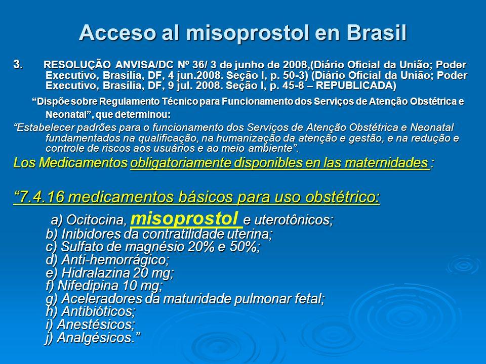 Acceso al misoprostol en Brasil