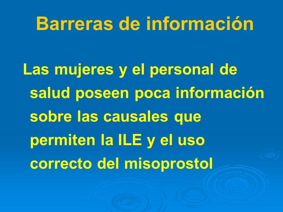 Barreras de información