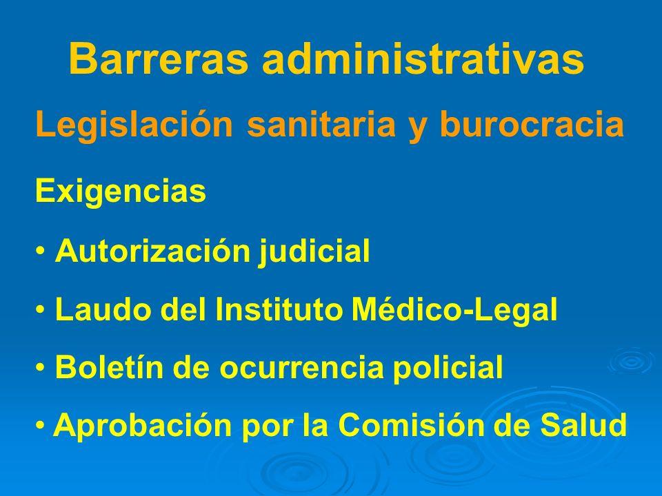 Barreras administrativas
