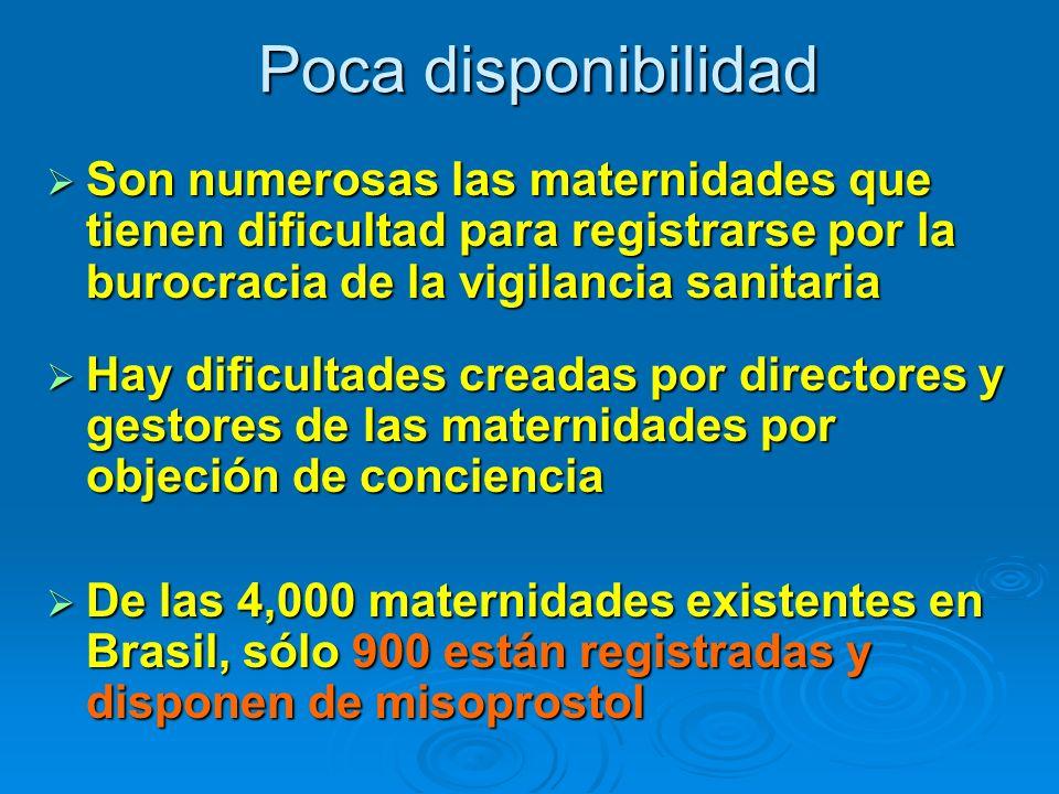Poca disponibilidad Son numerosas las maternidades que tienen dificultad para registrarse por la burocracia de la vigilancia sanitaria.
