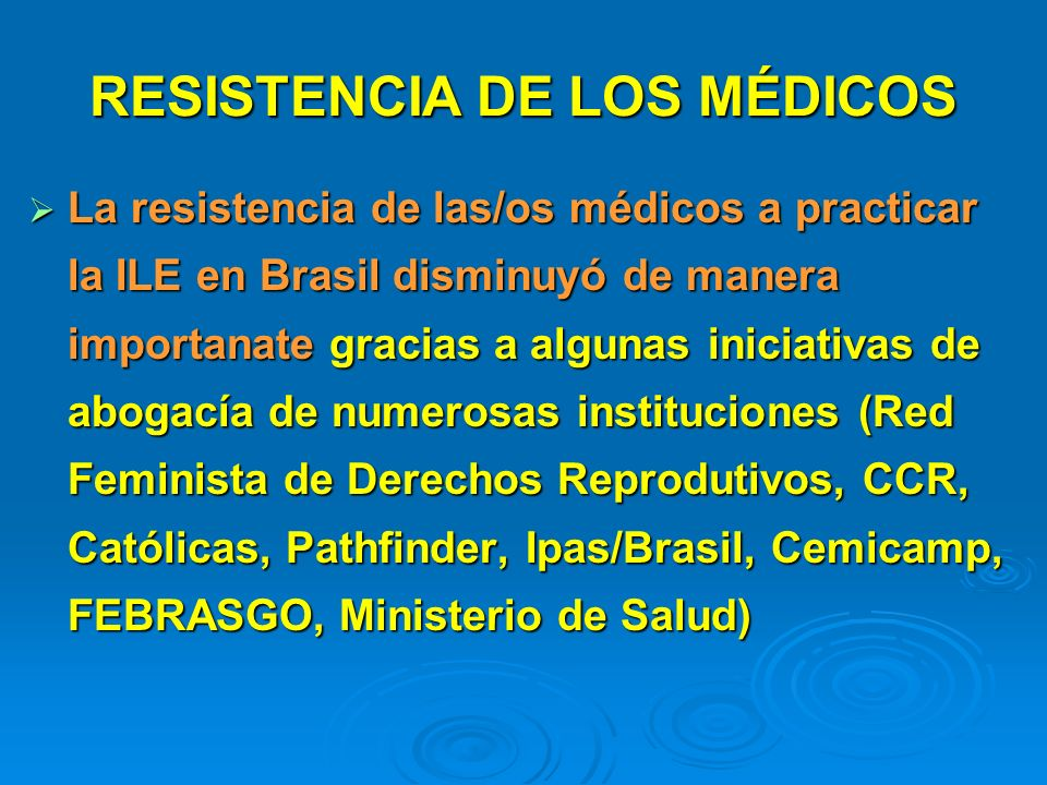 RESISTENCIA DE LOS MÉDICOS