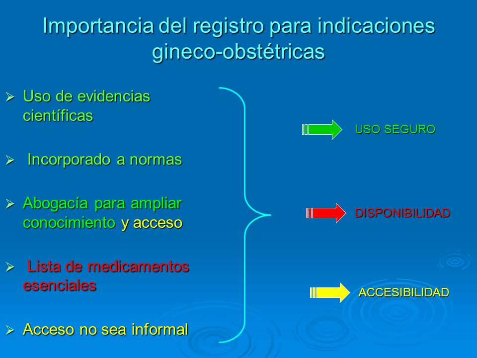 Importancia del registro para indicaciones gineco-obstétricas