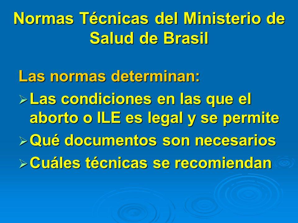 Normas Técnicas del Ministerio de Salud de Brasil