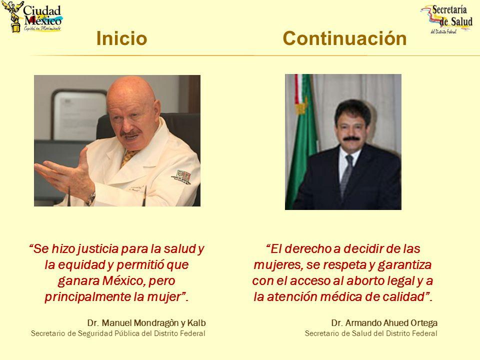 Inicio Continuación. Se hizo justicia para la salud y la equidad y permitió que ganara México, pero principalmente la mujer .