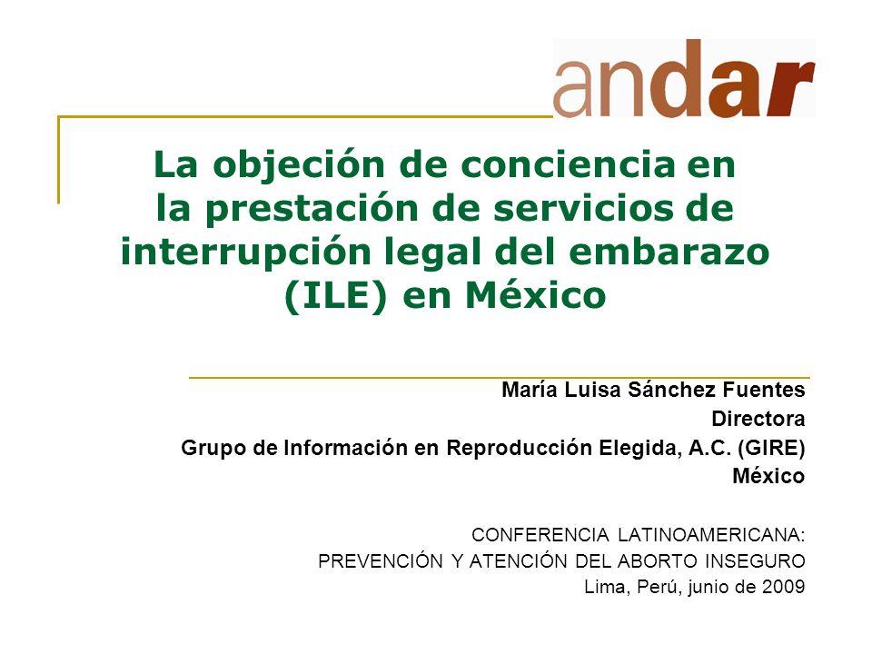 La objeción de conciencia en la prestación de servicios de interrupción legal del embarazo (ILE) en México