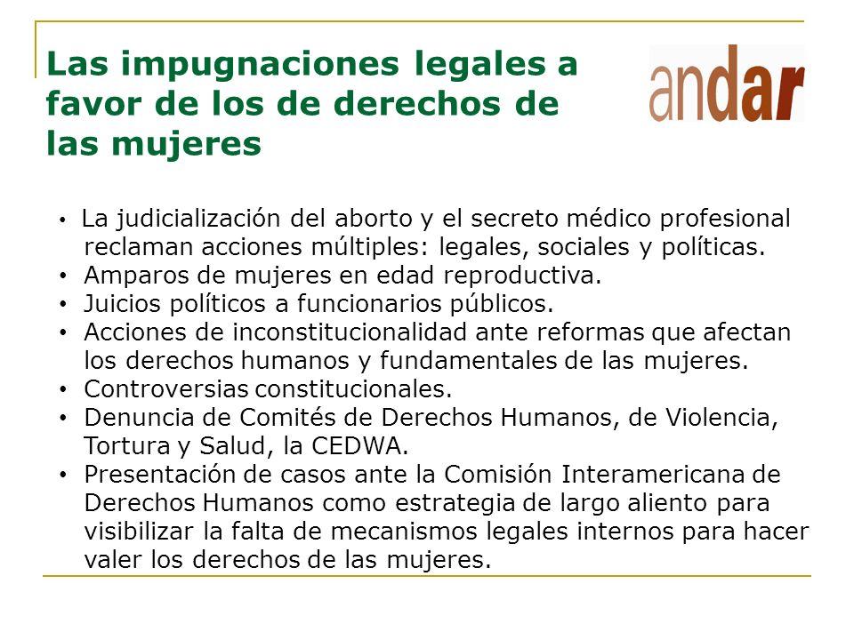 Las impugnaciones legales a favor de los de derechos de las mujeres
