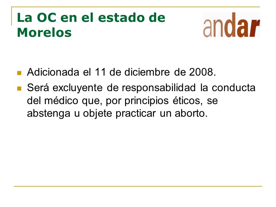 La OC en el estado de Morelos
