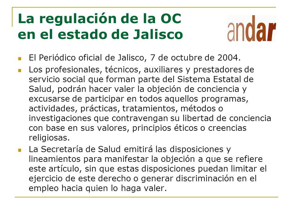 La regulación de la OC en el estado de Jalisco