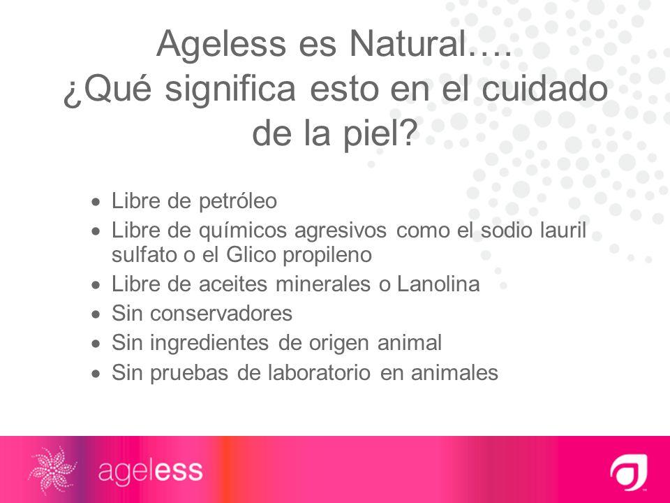 Ageless es Natural…. ¿Qué significa esto en el cuidado de la piel