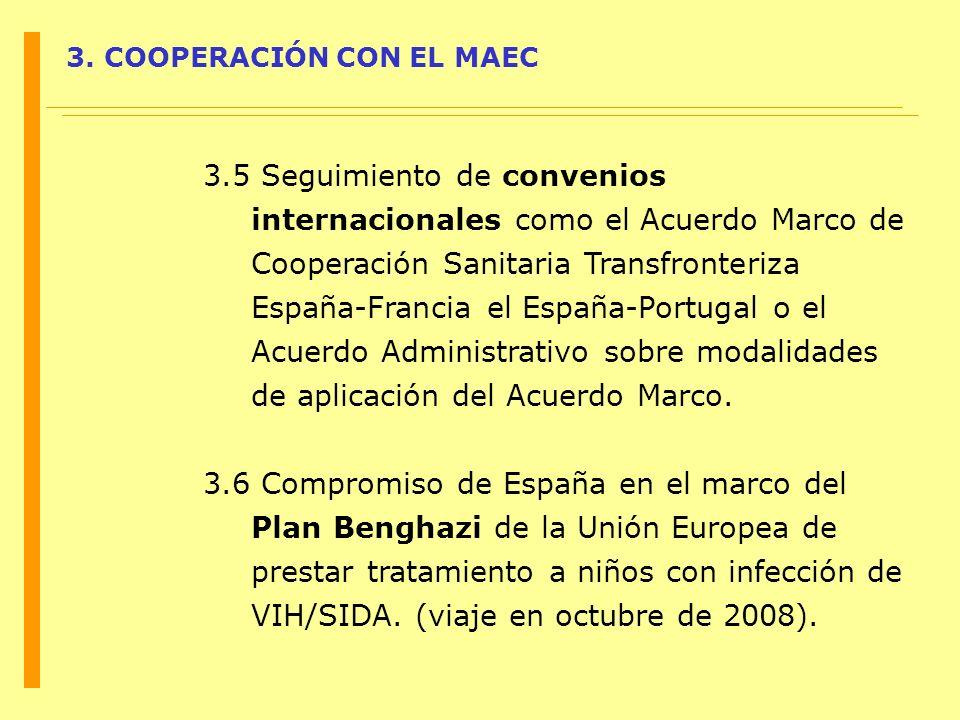 3. COOPERACIÓN CON EL MAEC